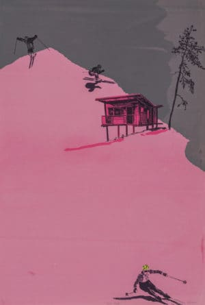 Love Shack - Anna Marrow graphic limited edition screen print