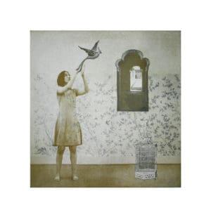 Margaret Ashman BIrd of Paradise Photo Etching figurative print