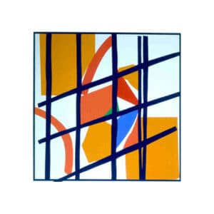 Orange and Red Facets sandra blow limited edition square slkscreen print