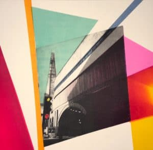 The Shard sophie layton Limited edition photo-etching and monotype print