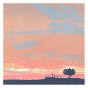 Under A Summer Sky I Limited edition screenprint emma reynolds landscape
