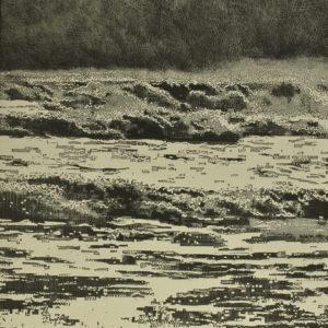 Storm waves I trevor price seascape limited edition drypoint print