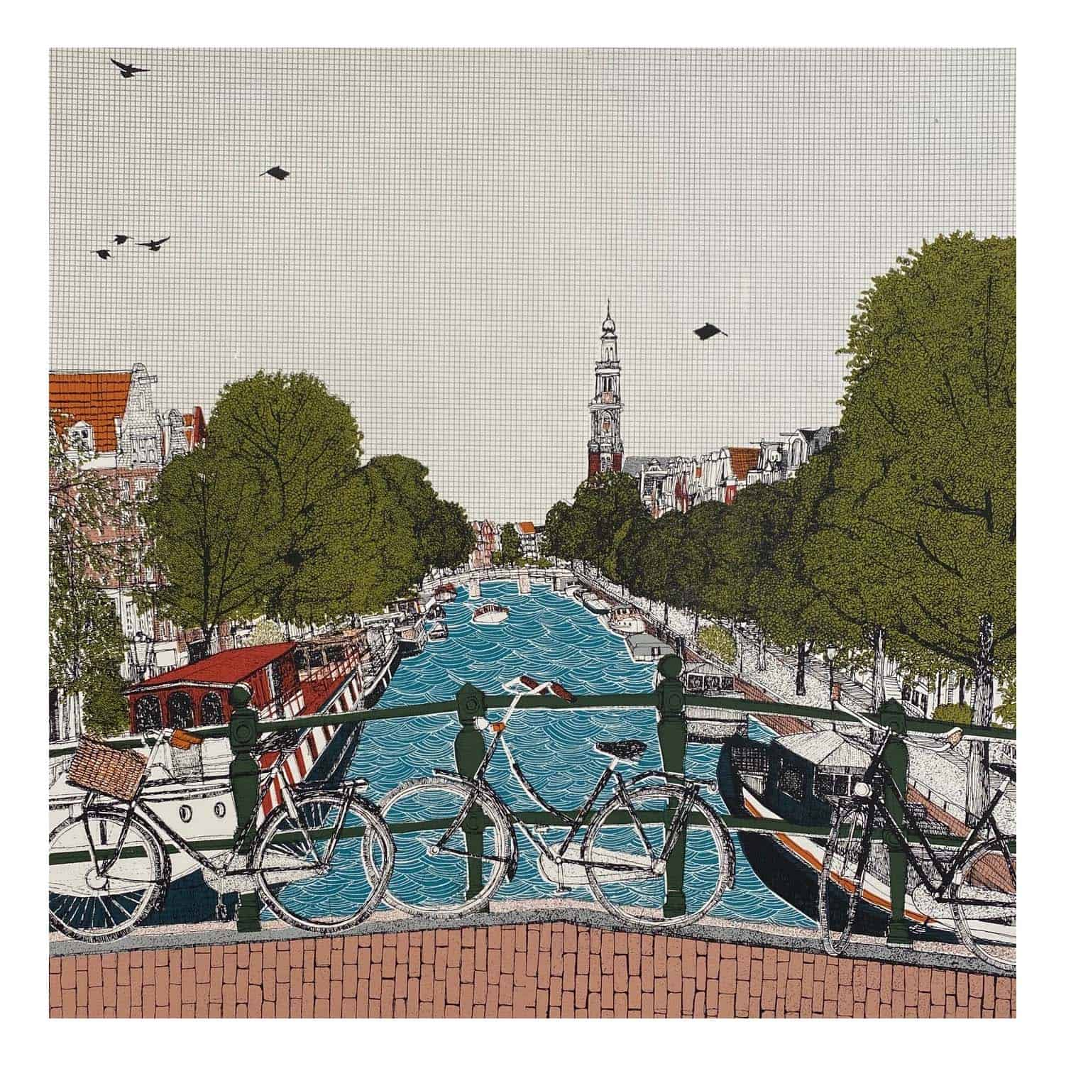 Cycle City Amsterdam By Clare Halifax Murus Art Contemporary Art