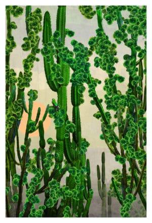 Cactus Sun by nadia attura limited edition art print